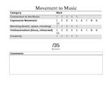 Movement to Music Rubric