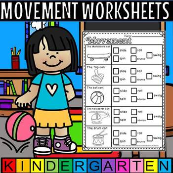 Movement worksheets.(50% off for 48 hours)