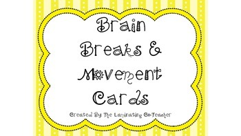 Movement/Brain Break Cards for the Classroom