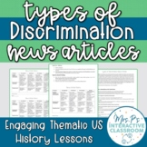 Movements for Equality: Types of Discrimination News Articles - Print & Digital