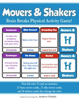 Movers & Shakers - Brain Breaks Card Game and Physical Activity