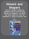 ReadyGen Movers and Shapers Vocabulary / Word Wall Cards Unit 1