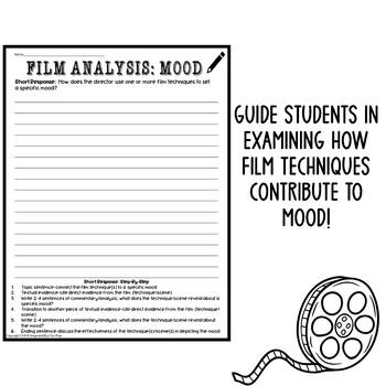 Movie Activities Film Analysis Worksheet Mood Back to ...