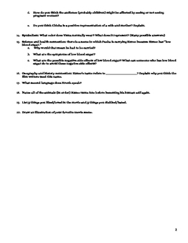 Movie Analysis Worksheet: The Emperor's New Groove