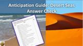 An At Home Lesson: Movie Anticipation Guide Desert Seas (N