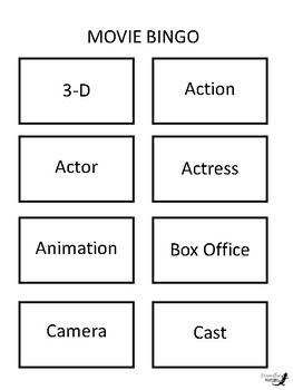 Movie BINGO!