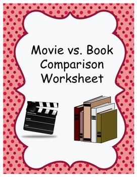 Movie Book Comparison Worksheet