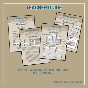 Movie Worksheets for Character Development and Soft Skills