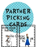 Movie Character Partner Picking Cards
