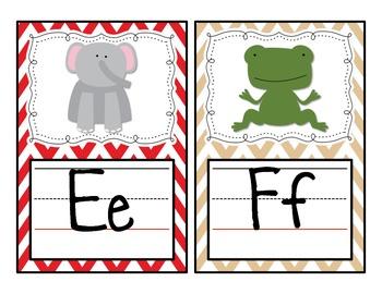 Movie / Cinema Themed Chevron Alphabet Cards Classroom Decor Bundle Add-On
