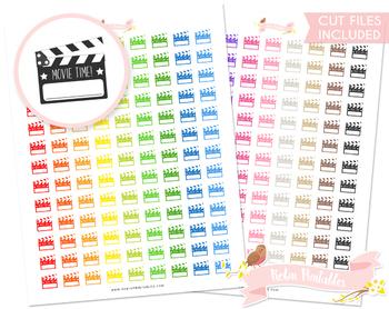 Movie Clapper Printable Planner Stickers