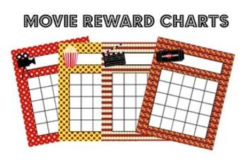 At The Movies Hollywood Classroom Incentive Reward Charts