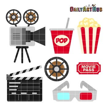 Movie Clip Art - Great for Art Class Projects!