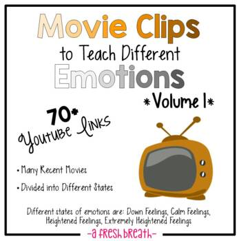 Movie Clips to Teach Different Emotions / States – 70+ Clips – With Online Links