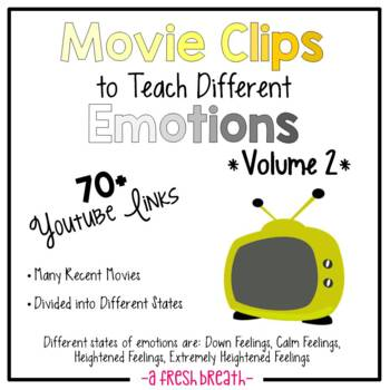 Movie Clips to Teach Different Emotions / States 70+ Clips w/Online Links- Vol 2