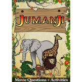 Jumanji Movie Guide + Activities - Answer Key Included (Color + Black & White)