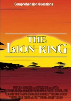 The Lion King Movie Guide + Activities - Answer Key Inc. (Color + Black & White)