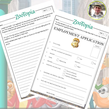 Zootopia Movie Guide + Extras - Answer Key Included (Color + Black & White)
