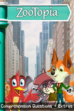 Zootopia Movie Guide + Activities - Answer Key Included (Color + Black & White)