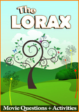 Dr Seuss The Lorax (2012) - Movie Comprehension Questions - Answer Key Included