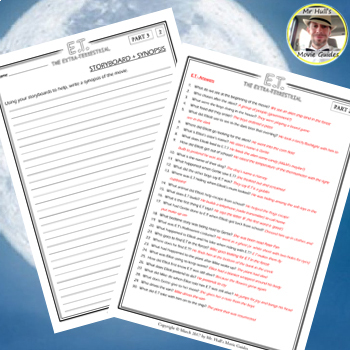 E.T The Extraterrestrial (1982) - Movie Guide Questions + Extras - Ans. Key Inc