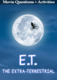 E.T The Extraterrestrial Movie Guide + Activities - Ans Key Inc. (Color + B&W)