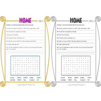Home Movie Guide - Answer Key Included (Color + Black & White)