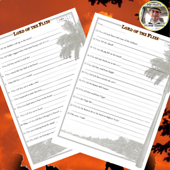 Lord of the Flies (1990) - Movie Guide Questions - Answer Key Included