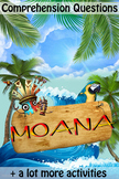 Moana Movie Guide + Activities - Answer Key Included (Color + Black & White)