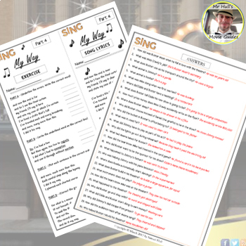 Sing Movie Guide + Activities - Answer Key Included (Color + Black & White)
