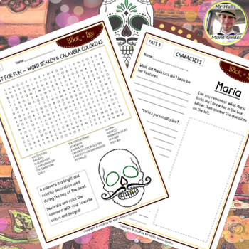 The Book of Life (2014) - Movie Comprehension Questions - Answer Key Included
