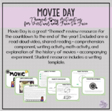Movie Day Activities - Distance Learning or Face-to-Face