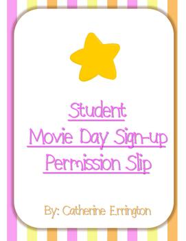 Movie Day Permission Form