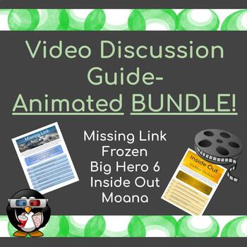 Movie Discussion Guide-Animated BUNDLE