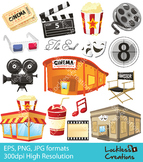 Movie Elements Digital Clip Art