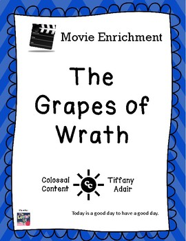 Movie Enrichment:  The Grapes of Wrath