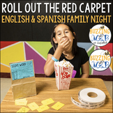 Movie Family Literacy Night Editable Bundle in English and