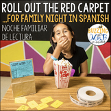 Movie Family Literacy Night Editable in Spanish