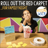 Movie Family Night: Roll Out the Red Carpet for Family Literacy Night, editable!