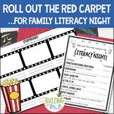 Movie Family Literacy Night Editable