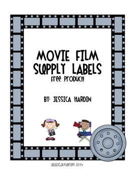 Movie Film Supply Labels