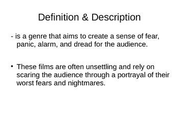 Movie Genre: Horror