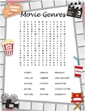 Movie Genres Word Search