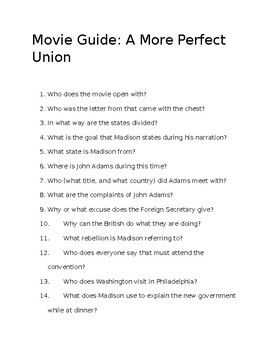 Movie Guide: A More Perfect Union