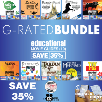 Movie Guide Bundle - 10 Pack of G-Rated Movie Guides