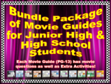 Movie Guide Bundle for PG-13 Rated Movies (36 Movie Guides)