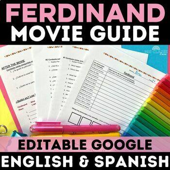 Movie Guide: Ferdinand Movie - Spanish class (English & Spanish versions w/ Key)