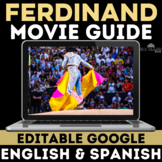 Movie Guide: Ferdinand - (English & Spanish versions w/ Key) - Distance Learning