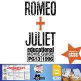 Romeo + Juliet Movie Guide   Questions   Worksheet (PG13 - 1996)