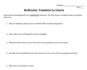 Movie Guide: Tambien La Lluvia